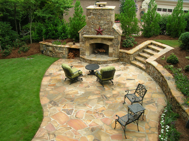 Patios in kent patio designs garden designs concrete for Back garden patio ideas